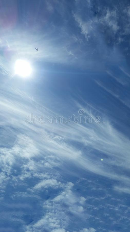 Cotton clouds royalty free stock image