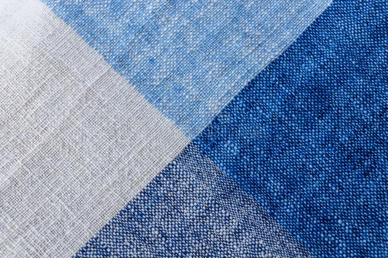 Cotton fabric in graphic design in blue and white color. Image of cotton fabric in graphic design in blue and white colors background royalty free stock photography