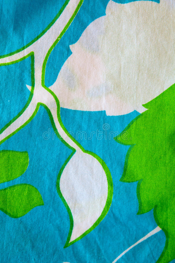 Download Cotton Material With Leaf Patterns. Stock Image - Image: 20830597