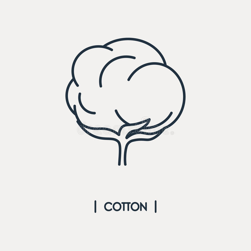 Cotton outline icon stock illustration