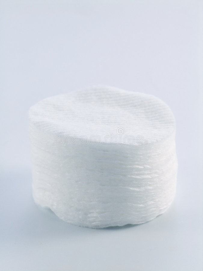 Cotton pads royalty free stock photography