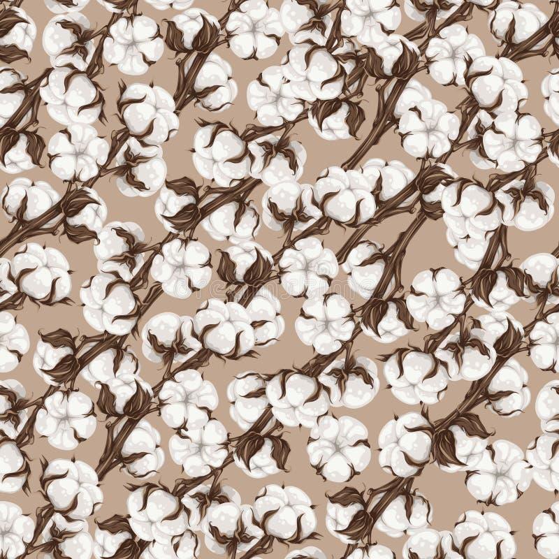 Cotton pattern. Vector illustration stock photography