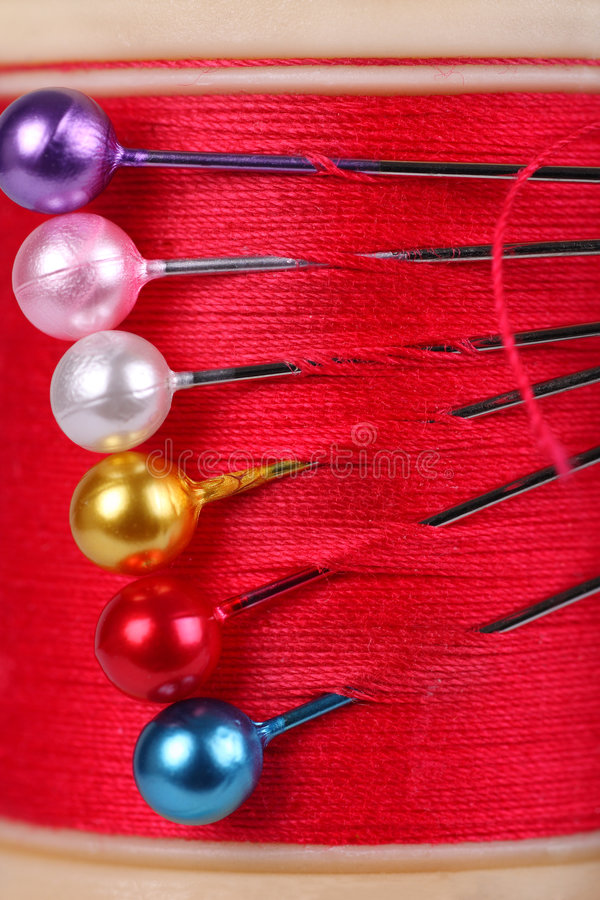 Download Cotton reel and pins stock image. Image of sharp, cotton - 7740495