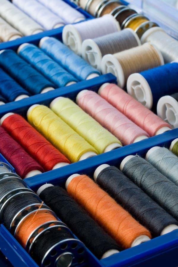 Cotton reels royalty free stock photo