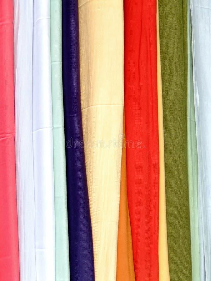 Cotton scarves stock image