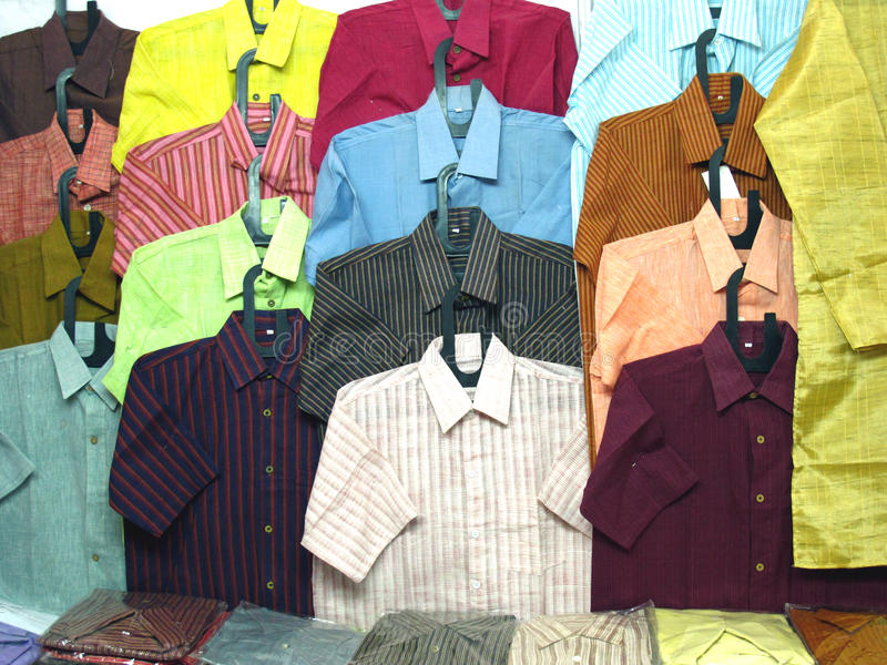 Download Cotton Shirts stock image. Image of colors, cloths, choice - 17500173