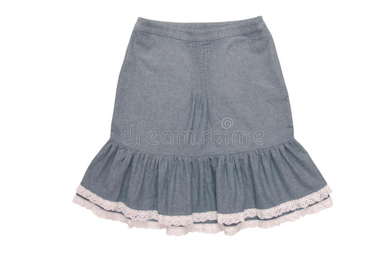 Cotton skirt with flounces royalty free stock images