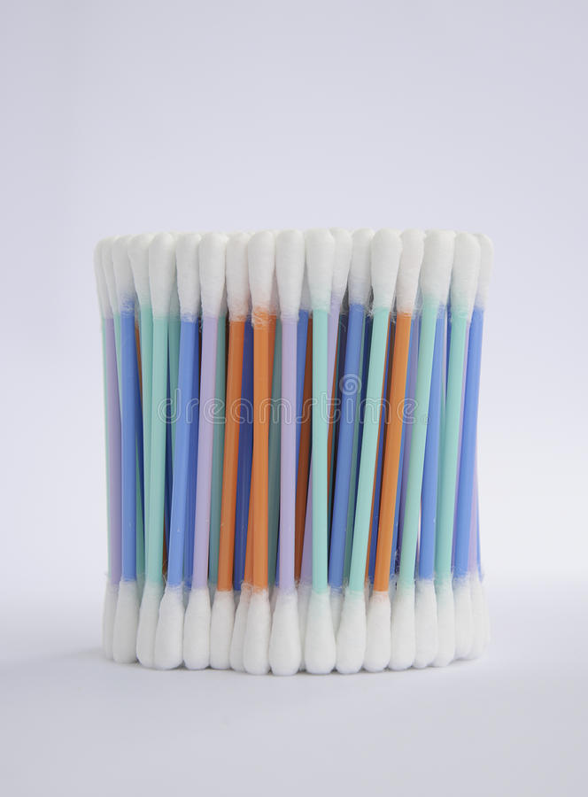 Cotton swabs. Cottons swabs on light background stock image
