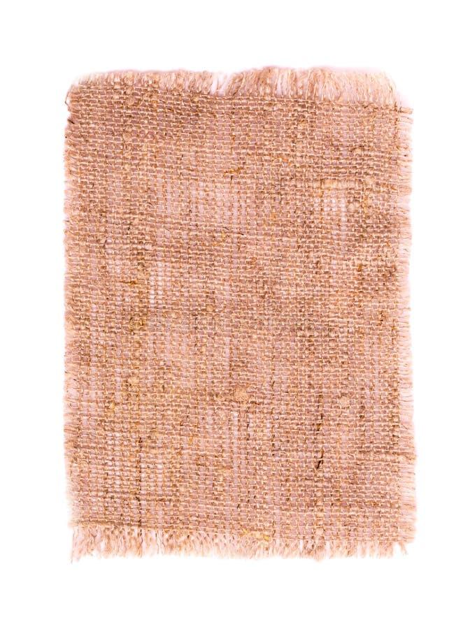 Cotton textile burlap isolated. On white stock photos