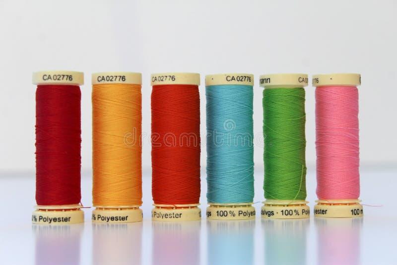 Cotton thread spool/reel royalty free stock photo