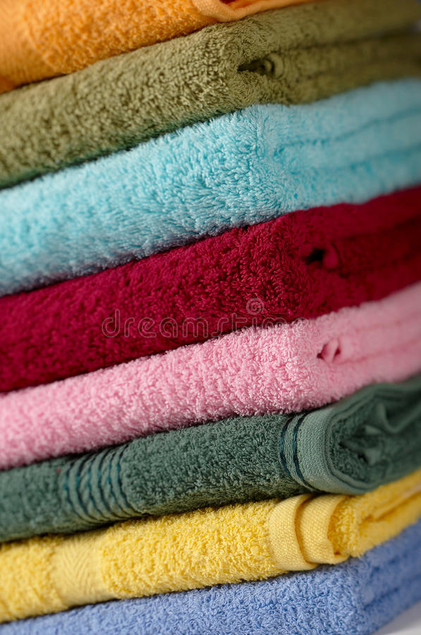Cotton Towels Stock Photo