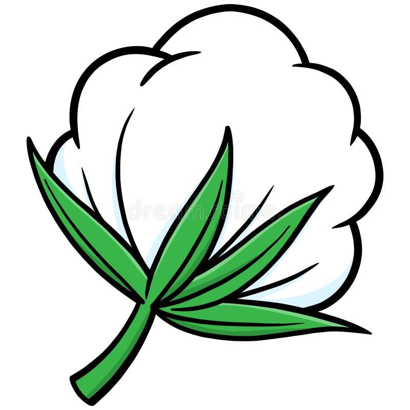 cotton stock vector illustration of flower textile 53833836 rh dreamstime com cotton plant clip art cotton candy clip art pictures