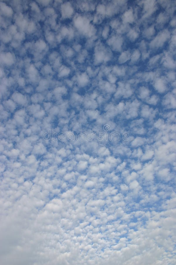 Cotton Wool Clouds royalty free stock photography