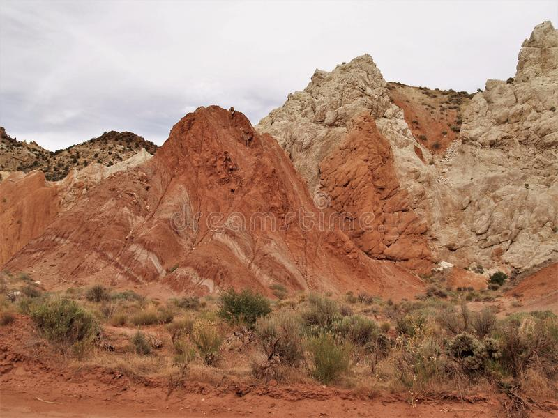 Cottonwood Canyon Road Rock Formations royalty free stock photos