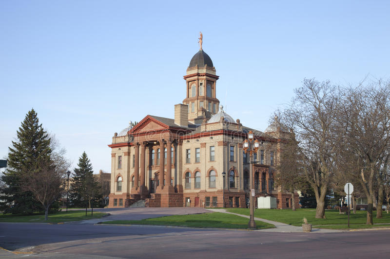 Cottonwood County Courthouse in Windom, Minnesota stock photo