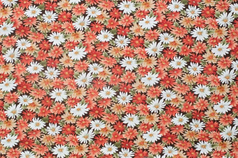 Cottonwood Dichte Omhooggaande Antieke Bloemenstof. royalty-vrije stock afbeeldingen