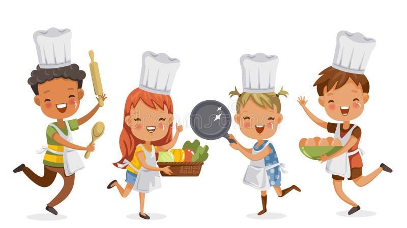 Cottura dei bambini illustrazione vettoriale