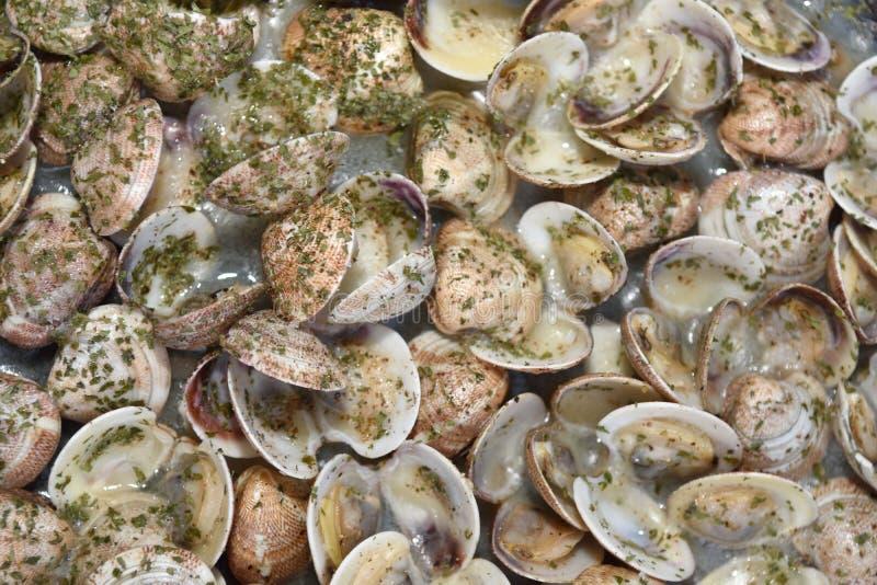 Cottura dei molluschi fotografia stock
