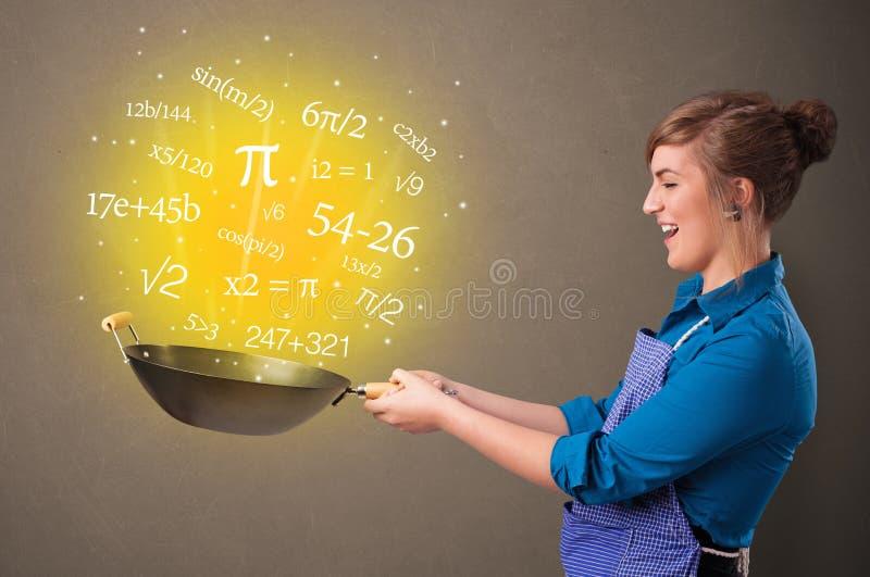 Cottura dei numeri in wok illustrazione vettoriale