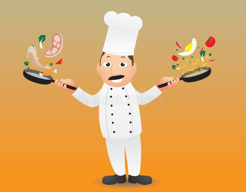 Cottura del cuoco unico royalty illustrazione gratis