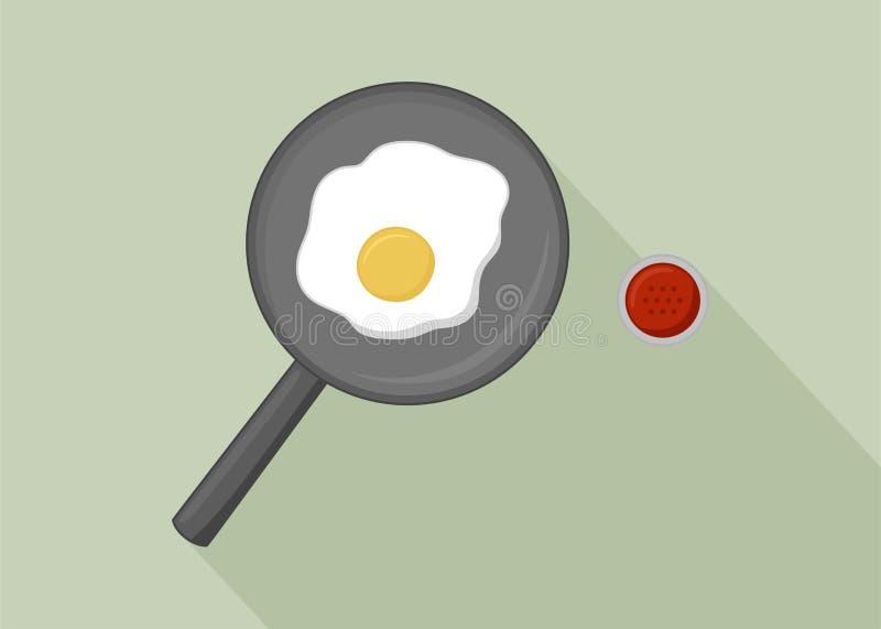 Cottura del vettore dell'uovo fotografie stock libere da diritti