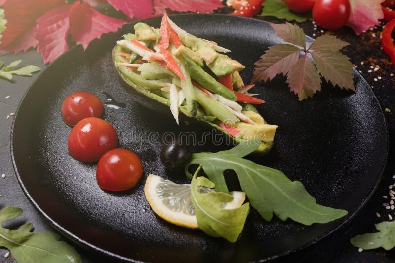 Cottura dell'alimento sano dell'insalata di verdure di ricetta immagini stock libere da diritti