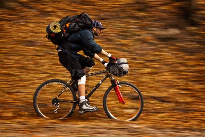 Cottura della bici di autunno immagine stock libera da diritti