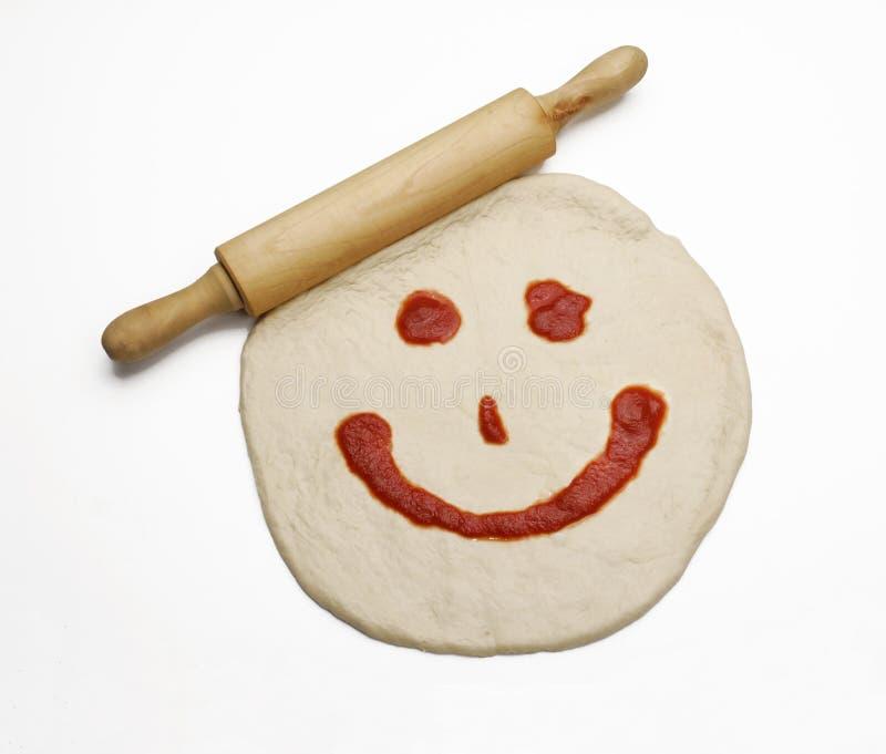 Cottura della pizza. immagini stock libere da diritti