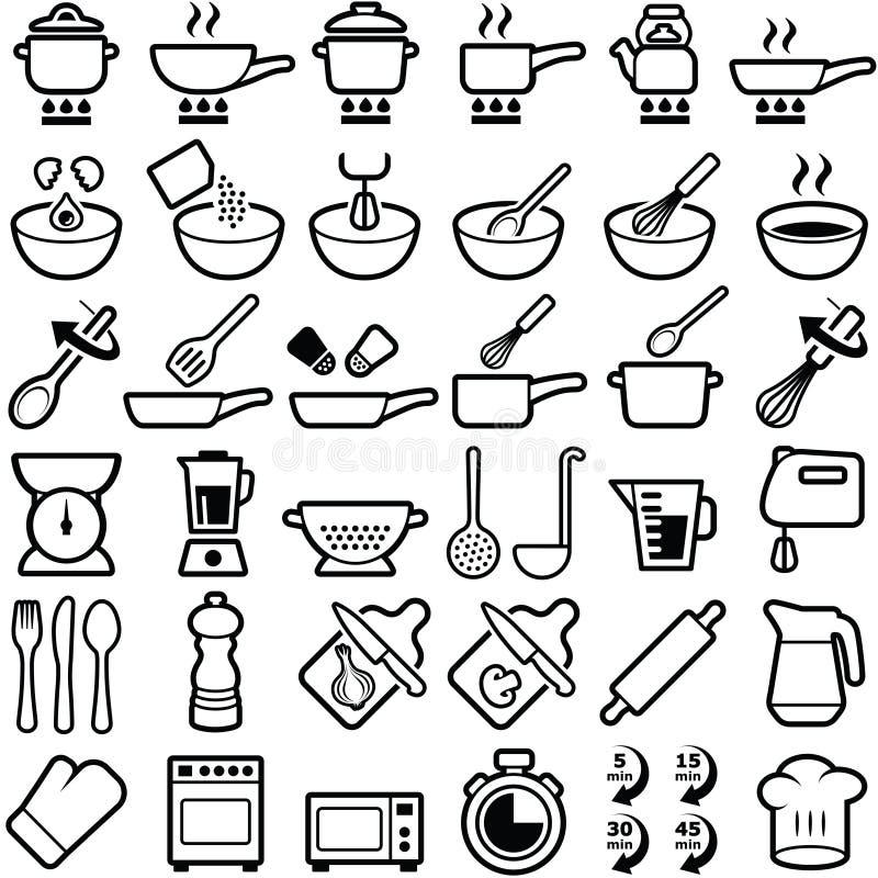 Cottura delle icone illustrazione vettoriale