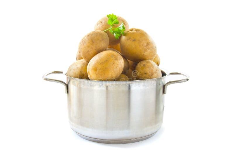 Cottura delle patate immagine stock