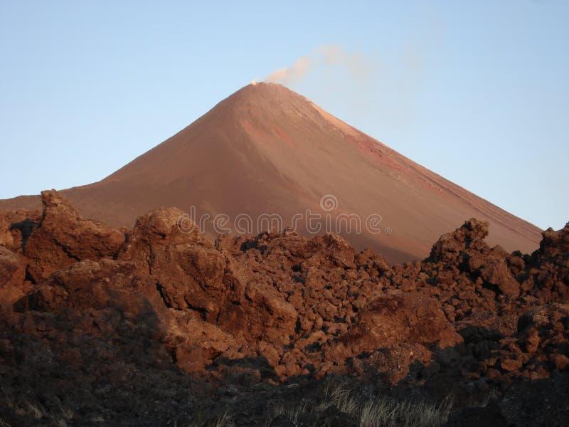 Cottura a vapore del vulcano immagine stock libera da diritti