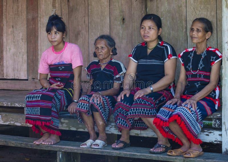 Cotu-ethnische Minderheit in Vietnam stockbild