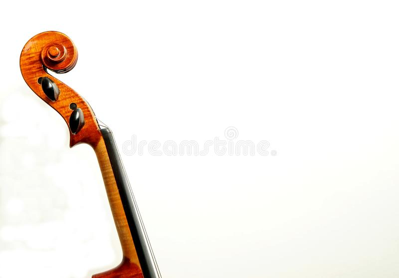 Cou, côté et vertical de violon, pour l'espace de copie images stock