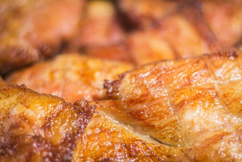 cou Charbon de bois-bouilli de porc photo libre de droits
