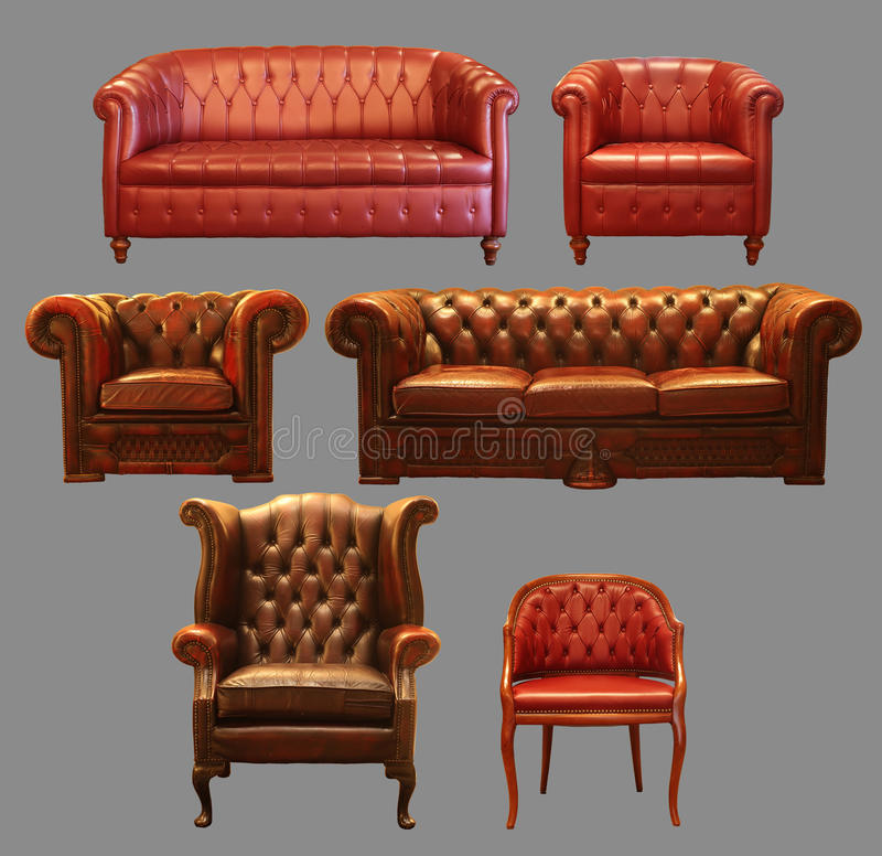 Free Couch Frontals Isolated On Grey Background Stock Image - 13336651