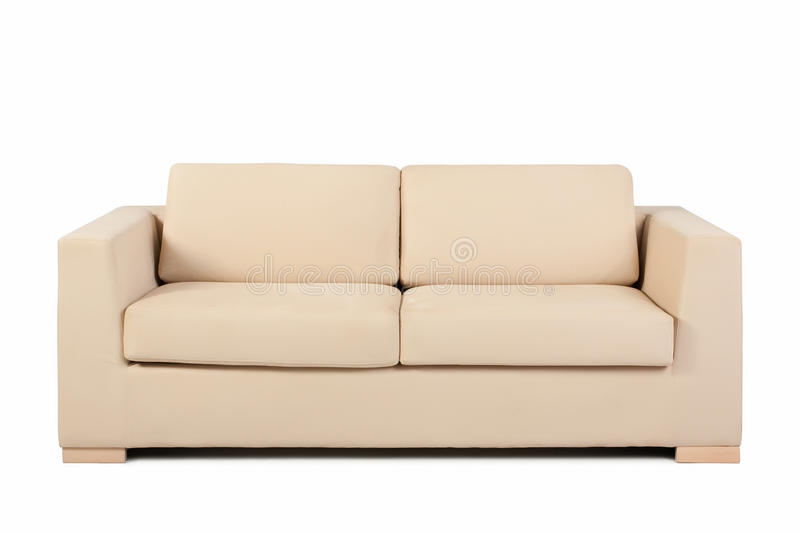 Download Couch isolated on white stock photo. Image of leather - 15909544