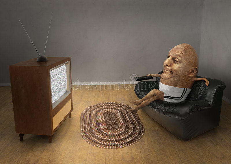 Couch-Kartoffel lizenzfreie stockfotos