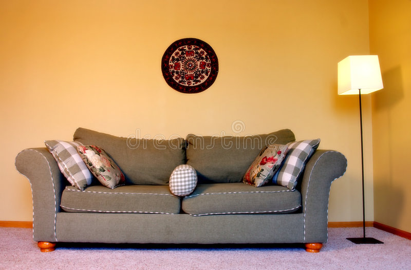 Download Couch in the living room stock image. Image of furniture - 4935875