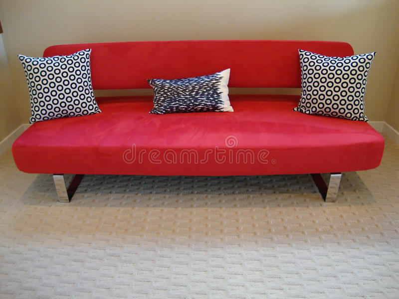 Download Modern Red Couch And Pillows Stock Photo - Image: 11918276