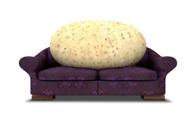 Download Couch Potato Royalty Free Stock Image - Image: 25525626