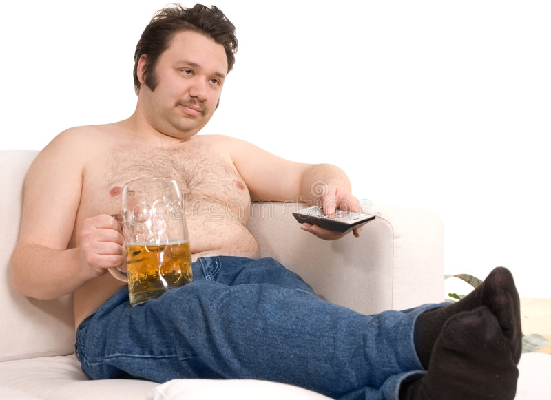 Download Couch potato stock photo. Image of couch, fatness, isolated - 8173736