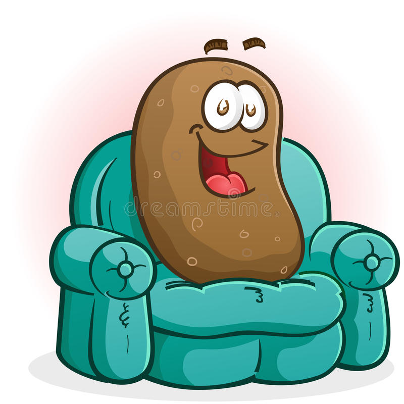 Download Couch Potato Cartoon Character Stock Vector - Illustration: 35556338