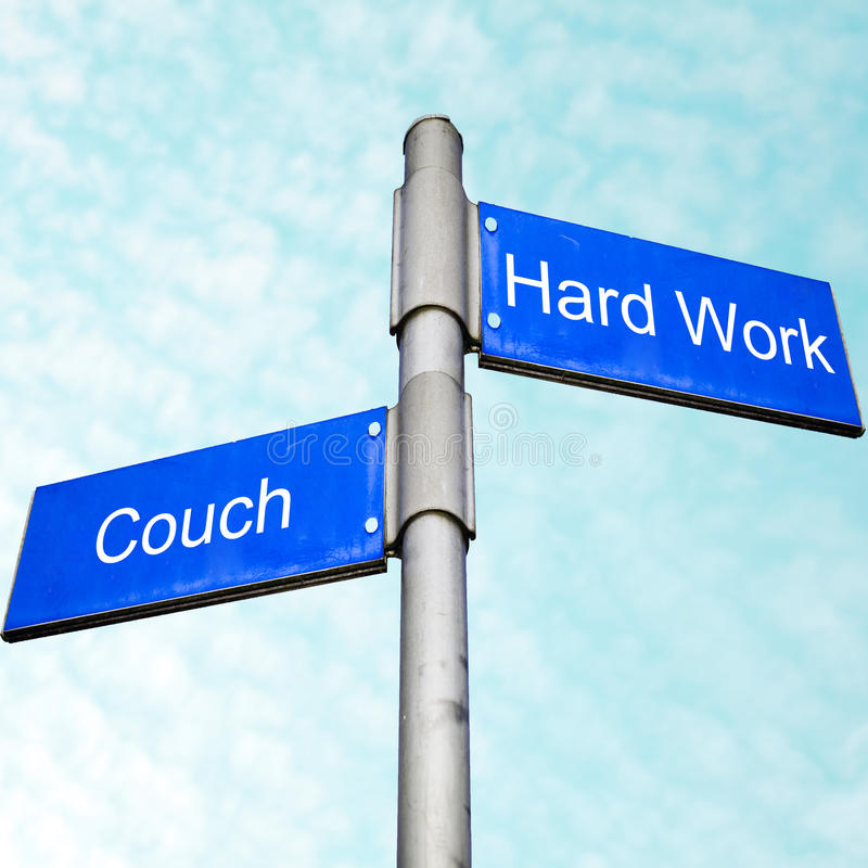 Free Couch Potatoe Or Hard Worker  Stock Images - 13998194