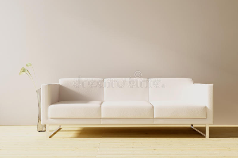 Couch To Face A Blank Wall Stock Illustration