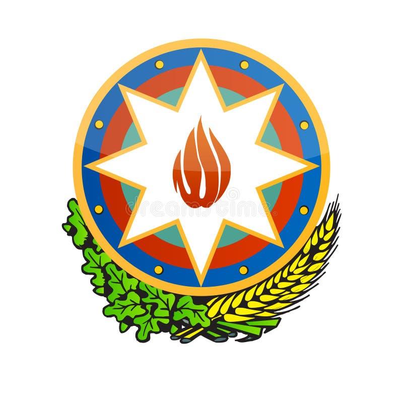 Couche de l'Azerbaïdjan de vecteur de bras illustration de vecteur