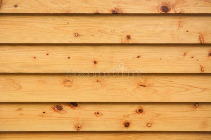 Couche de planches de pin naturel bandes de fond de fond de la paroi large avec les oeillets naturels et le grunge photographie stock libre de droits