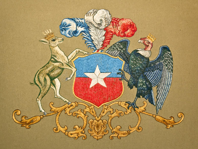 Couche des bras du Chili illustration stock