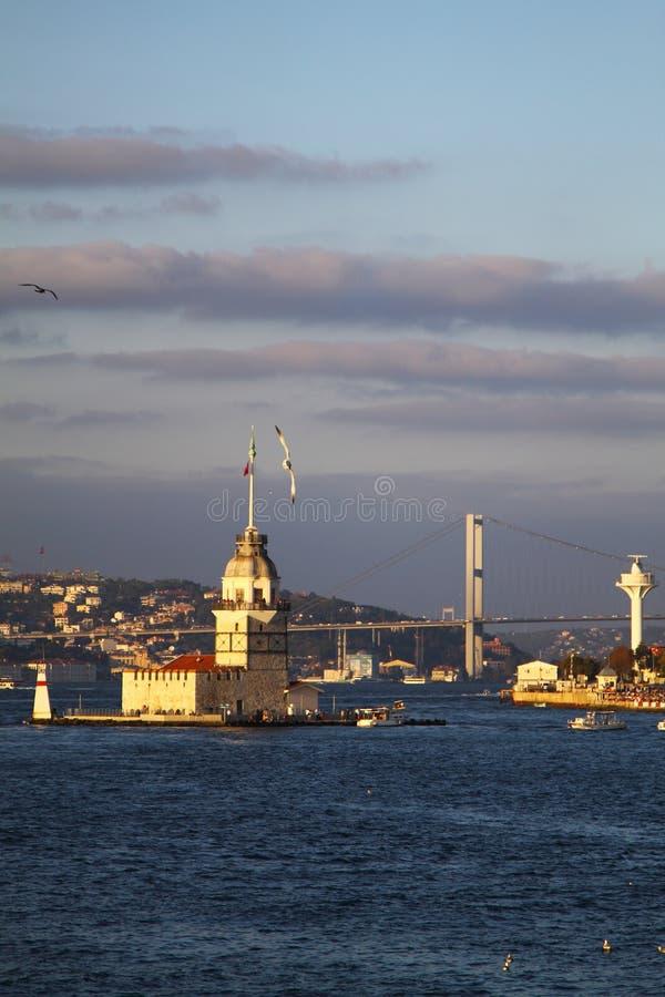 Coucher de soleil à Istanbul, Turquie photos stock