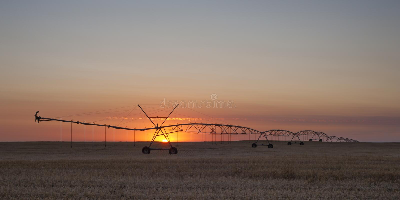 Coucher de soleil près de Warman, Saskatchewan, Canada image stock