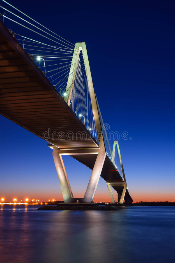 Coucher du soleil à Charleston, Sc photographie stock